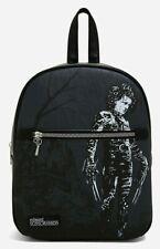 Edward Scissorhands Sketch Misunderstood Boy Bioworld Black Mini Backpack NWT