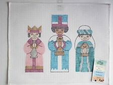 Three Kings needlepoint canvas Kanvas by Kelly 10 count interlock Christmas