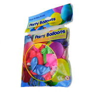 """25 x 11"""" Happy Birthday Printed Party Balloons Assorted Colours Latex Pink Green"""