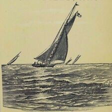 1870's-80's Alex W. Green's Furniture & Upholstering Sailboats On The Sea P67