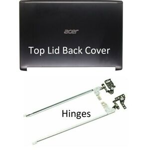New Acer Aspire 5 A515-51 A515-51G Top Lid LCD Back Cover & L+R Hinges Set Black