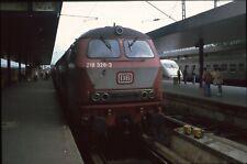 Originaldia DB 218 328 Hamburg-Altona 13.9.1993