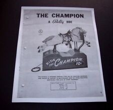 RIDE THE CHAMPION Horse Kiddie Ride Installation And Repair MANUAL Bally Mfg.