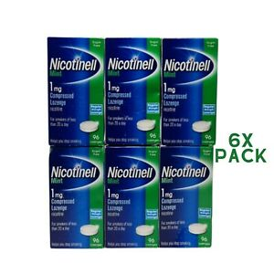 Nicotinell 1mg mint lozenges regular strength 96 pieces 6xPACK
