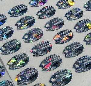 Holographic Baitfish Replacement Spinner Blade Decals Size 1-2 D6