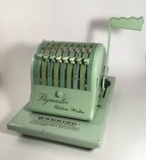 Paymaster Ribbon Writer 8000 Series Mint Green Check Writer Made in the U.S.A.