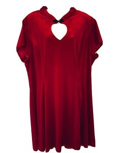 🤍Spin Doctor   Mika Dress   Red Velvet   Size 4XL/22  NEW WITH TAGS