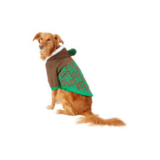 Blueberry Pet - Snowflake Dog Sweater, Green 20 In