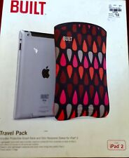 NIB BUILT NY Travel Pack Case IPAD 2 Wild Vivid Tear Rain Drop Padded Hard Back