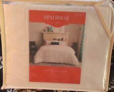 NWT Opalhouse Embroidered Duvet Sham Set FULL QUEEN White Neutral Boho Cotton