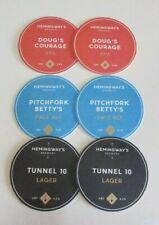 6 Hemingway's Brewery - Branded Beer Coasters, Refreshingly Far North Queensland