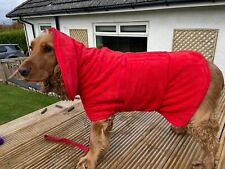 Luxury Towelling Dog Drying Coat in the Style of Ruff & Tumble Christmas