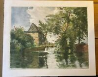 Sturry Water Mill, Signed etching by William Tatton Winter RBA - 1927