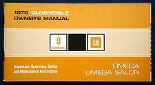 Owner's Manual Betriebsanleitung 1975 Oldsmobile Omega + Omega Salon   (USA)
