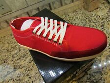 NEW STEVE MADDEN TOLEDO RED CANVAS SNEAKER SHOES MENS 10  FREE SHIP
