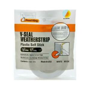 V-Seal Weatherstrip Tape, White, 7/8-In. x 17-Ft.