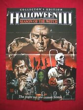 HALLOWEEN III 3 ORIGINAL MOVIE POSTER SEASON OF THE WITCH SCREAM FACTORY MASKS