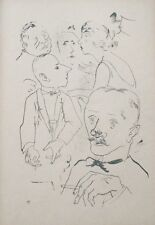Lithography original - George Grosz - Ecce Homo - New generation - 1923