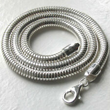 Italian Solid Sterling Silver Snake Chain, Width 5mm, Length 18""