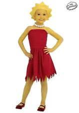 Child Lisa Simpson Costume Size Small-6 (w/defect)