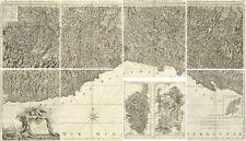 Carta topografica originale Italia 1784 Stati della Republica di Genova Gravier