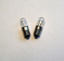 6.3V 0.15A 1W Light Bulbs pair Valve Radio Dial Amplifier Pilot Lamp E10 MES 6V