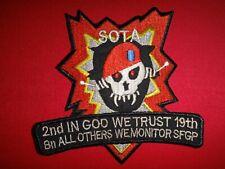 "2ND BN 19TH SFGA /""SOTA/"" PATCH #099 US ARMY S.F"
