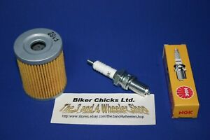 Fits: SUZUKI 1986 LT250 EF Tune Up Kit NGK Spark Plug & Oil Filter