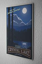Tin Sign World Tour  Camp Crystal Lake summer evenings Moon Metal Plate