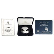 2013-W Proof $1 American Silver Eagle Box OGP & COA