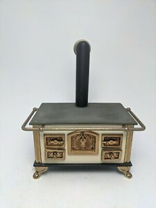 Vintage Bodo Hennig Antique Brass Stove 1:12 Dollhouse Miniature German Artisan