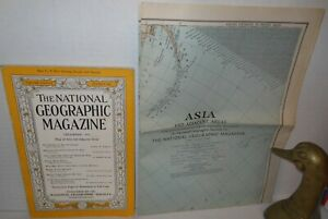 WW2 National Geographic December 1942 Asia's Role in Global Warfare with Map