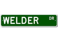 WELDER Street Sign - Personalized Last Name Signs