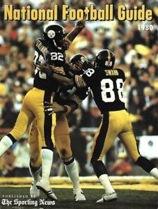 1980 NFL National Football Guide,496 pages , Steelers' Stallworth, Swann - NM