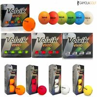VOLVIK VIVID 2017 MATTE FINISH 3 PIECE GOLF BALLS choice of SLEEVE / DOZEN!