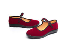 NEW WOMEN'S SHOES RED WEDGE/FLAT CLOTH FABRIC DANCING SHOES COMFORT SOFT SOLE
