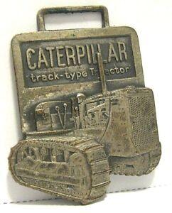 Caterpillar D7 Crawler Tractor Pocket Watch Fob WM ZIEGLER CO Minnesota  Leavens
