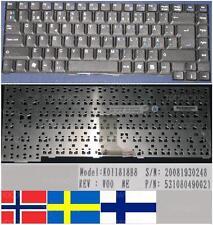 TECLADO QWERTY NÓRDICO / NÓRDICO Packard Bell E1245 E1260 E1280 E1510 E1 Negro