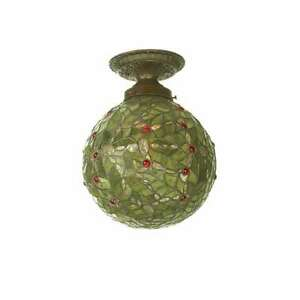 Meyda Lighting 9'W Holly Ball Semi-Flushmount, Zaz 59 Red - 81754