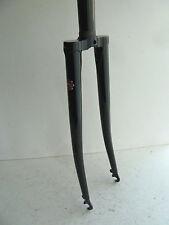 "new KHS track fork, 1"" threadless, 700c, lugged steel, black, drilled for brakes"