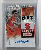 Malachi Richardson 2016 Panini contenders draft picked cracked ice auto /23