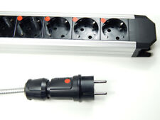 Highend ALU 9-fache Netzleiste Steckdosenleiste 1,5m Lapp Netzkabel Distributor