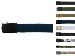 MFH Belt Men's Belt Military Cloth Ca. 1 3/16in Adjustable up To 51 3/16in