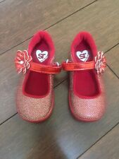 STRIDE RITE Mary Jane Glitter Shoes Haylie Red 6.5M Toddler Christmas 🎄 Holiday