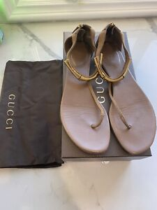 Gucci Flat Sandals brown size 39 1/2