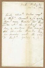 More details for lady elizabeth foster, duchess of devonshire, novelist. 1804 autograph letter