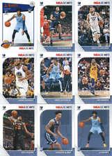 2019-20 Panini NBA Hoops Memphis Grizzlies Team Set of 9 Cards
