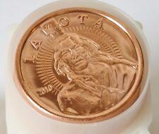 Lakota 2010 Crazy Horse .999 Pure Fine Round Bullion 1 oz Copper Collectors Coin