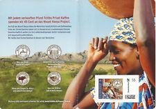 2011 Tchibo Portocard Individuell 0,55 Euro WASSER Zuschlagsmarke Kenia