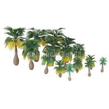 15pcs 1: 100-1:300 Landschaftsbau Palm Baum Bäume Modelleisenbahn